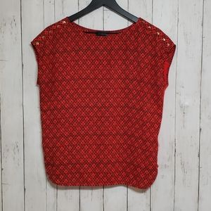 The Limited red printed blouse